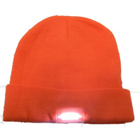5 LED Beanie Orange Super Bright Hunting Fishing Hats