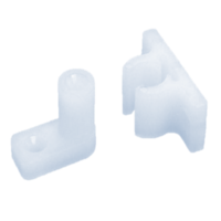 CUPBOARD GRIPPER CATCH VERTICAL - NYLON - 2 PACK