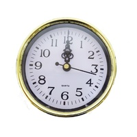 Australian RV Accessories Wall Clock Gold 10cm Quartz