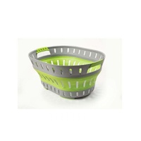 EOFY POP UP LAUNDRY BASKET - GREEN/GREY
