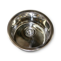 EOFY STAINLESS STEEL ROUND SINK/BASIN 450MM CARAVAN RV