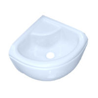 ACRYLIC MINI CORNER BASIN FULL SKIRT