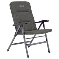 COLEMAN PIONEER CHAIR CHARCOAL GREY FLAT FOLD RECLINER 8 POSITION