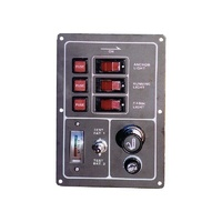 3 GANG SWITCH PANEL WITH BATTERY TESTER CIGARETTE SOCKET