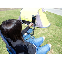 Foldable Kickstand Mobile Phone Holder IPad Caravan Camping Chair