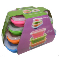 Collapsible Space Saving Products Collapsible Rectangle Containers 4 Set
