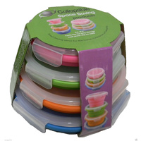 COLLAPSIBLE SILICONE CONTAINERS ROUND SET OF 4