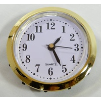 Wall Clock Gold 6cm