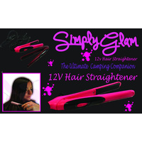 12volt Hair Straightener Pink