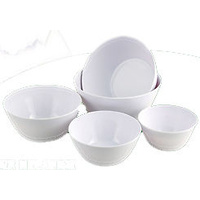 Melamine 5 Piece Bowl Set White New Caravan RV Kitchen Travel Accessories Parts
