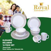 Melamine Dinner Set Elegance 16 Piece Caravan