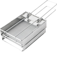 ROYAL KITCHENWARE STAINLESS STEEL FOLDING CAMP TOASTER