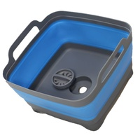 Space Saving Collapsible Blue Sink