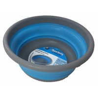 Space Saving Collapsible Blue Bowl Large New Caravan Boat RV Camping Silicone
