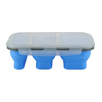 COLLAPSIBLE 3 COMPARTMENT STORAGE CONTAINER