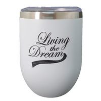 "White Keep Cup - ""LIVING THE DREAM"""