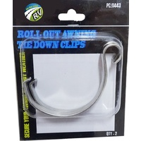 TIE DOWN CLIPS ROLL OUT AWNING CARAVAN RV POP TOP PARTS ACCESSORIES