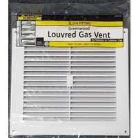 Caravan Louvred Gas Vent Cover Plastic White 275 x 250mm