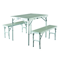 CARIBEE FOLDING TABLE WITH CHAIRS - SILVER