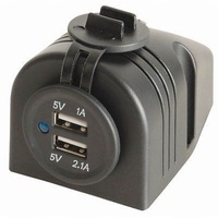 Powertech 2 Port USB Charger New Caravan Camping Motorhome RV Portable