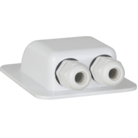 White ABS Solar Cable Entry Point HS-8866