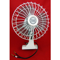 OSCILLATING 12V FAN WHITE 150mm