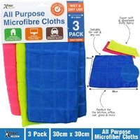 MICROFIBRE CLOTHS 3PK