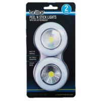 Brillar Peel & Stick Lights with COB LED technology set of 2