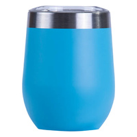 BLUE  INSULATED STAINLESS STEEL TRAVEL TUMBLER KEEP CUP