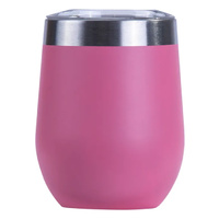 PINK  INSULATED STAINLESS STEEL TRAVEL TUMBLER KEEP CUP