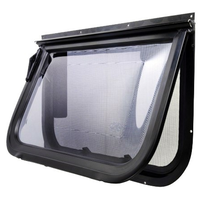 Odyssey Windows BLACK 2 Radius Corner Single Hopper