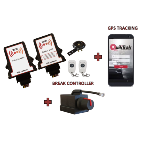 WITI WIRELESS TRAILER INTERFACE WITH BREAK CONTROLLER & GPS TRACKING