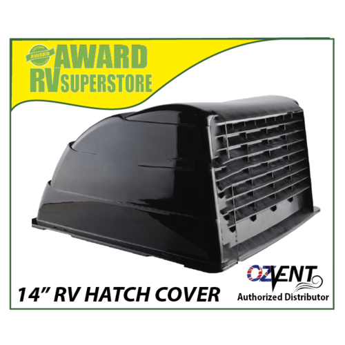 "OZVENT HATCH VENT COVER 14"" BLACK"