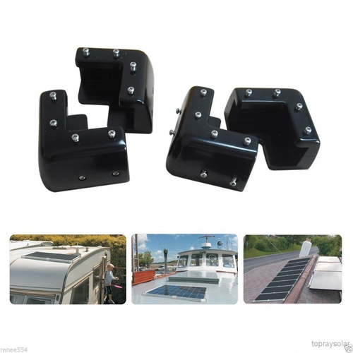 Topray Universal Solar Mount Brackets Set of 4 - Black